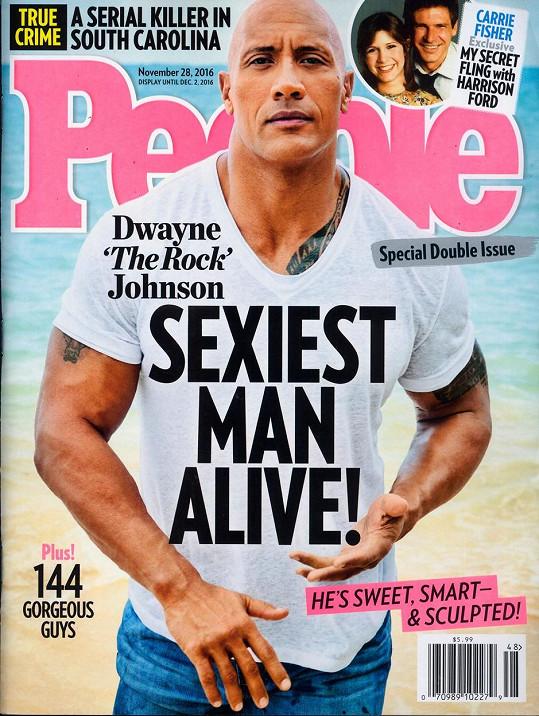 Johnson (45) byl za loňský rok vyhlášen časopisem People nejvíc sex mužem planety.