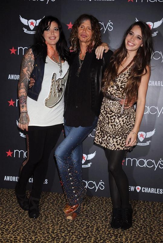 Steven Tyler s dcerami Miou a Chelsea