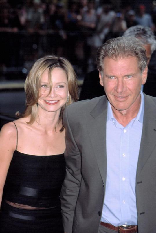 Ford a Flockhart na premiéře filmu K-19: Stroj na smrt (2002)