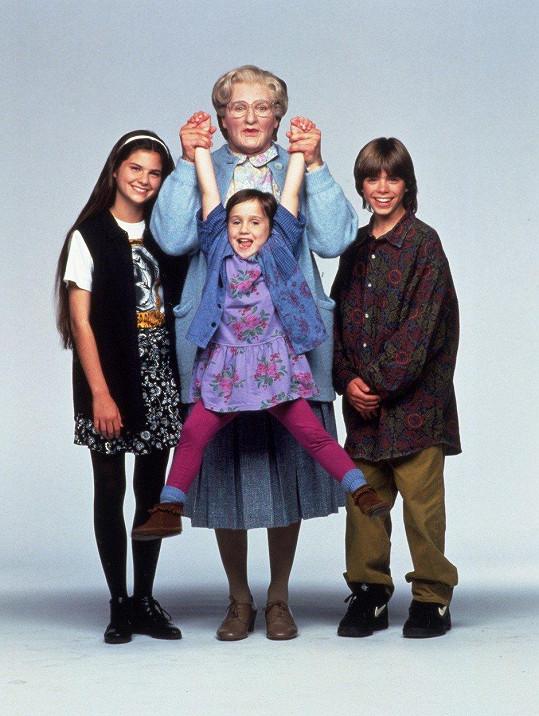 Robin Williams se v komedii Táta v sukni převlékl za chůvu.