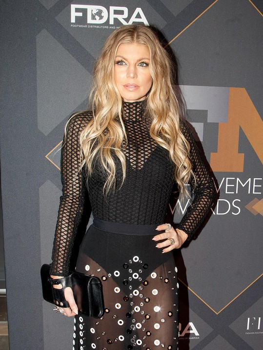 Fergie na Footwear News Achievement Awards v New Yorku