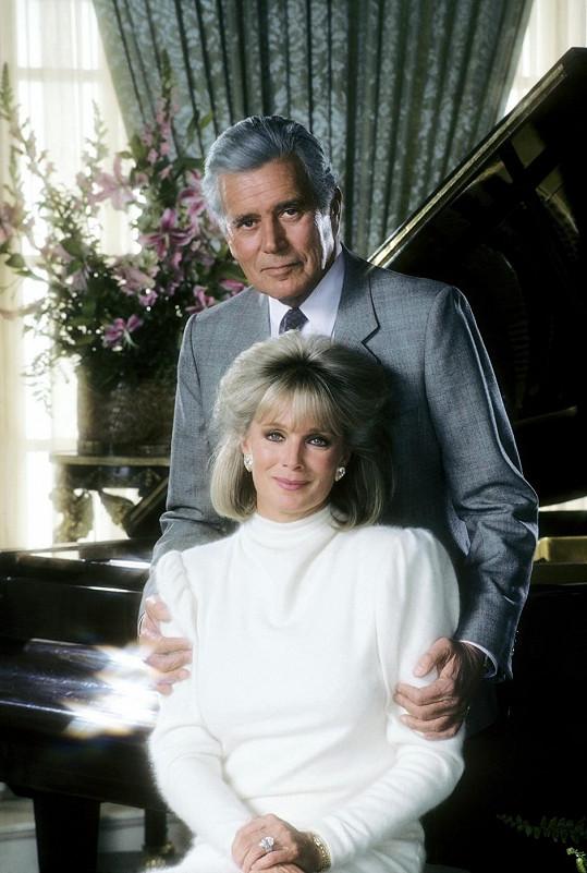 Linda Evans a John Forsythe ve svých životních rolích