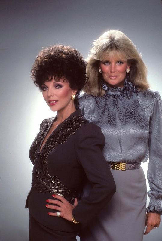 Linda se svou největší seriálovou protivnicí v podání Joan Collins.