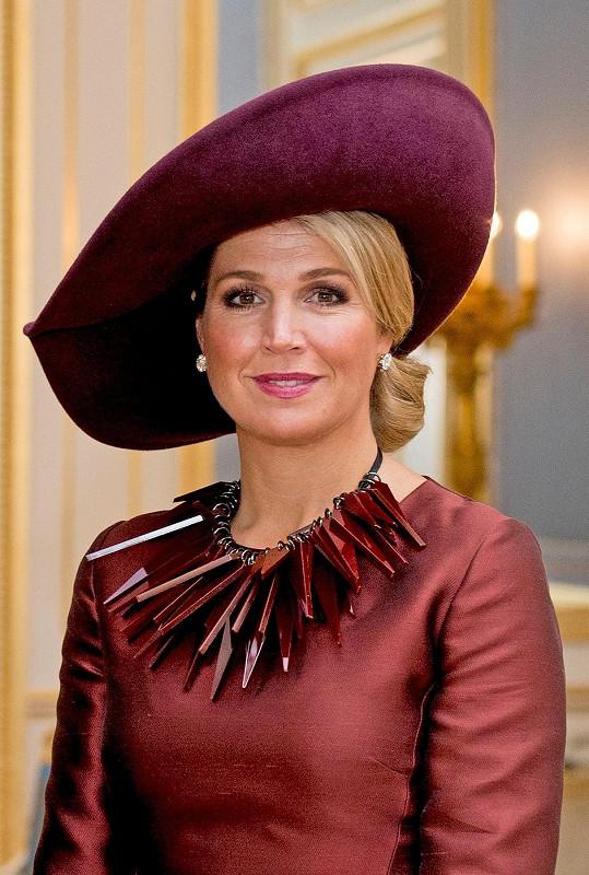 Maxima Nizozemská si potrpí na klobouky