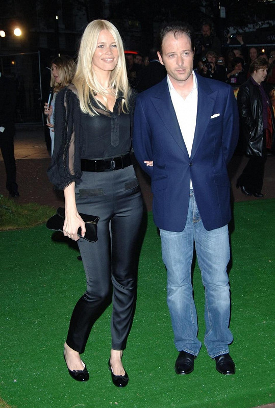 Claudia s manželem Matthewem Vaughnem