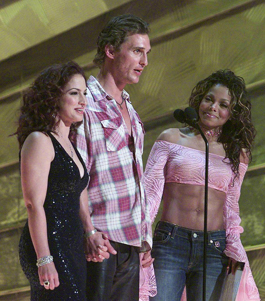 Janet Jackson a Matthew McConaughey měli aféru po udílení Grammy v roce 2002 (na snímku).