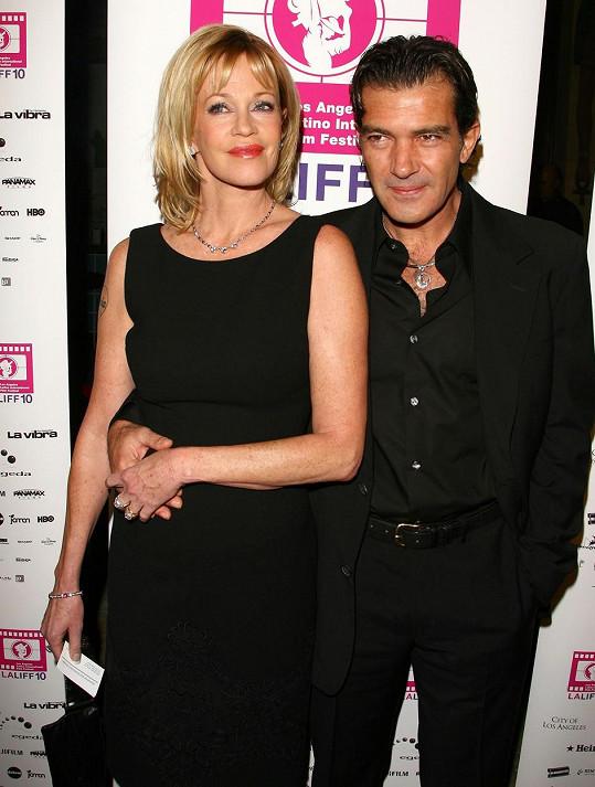 Posledním z manželů Melanie byl Antonio Banderas. Zde na fotografii z roku 2006.