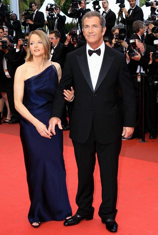 Jodie s Melem na festivalu v Cannes v roce 2011.