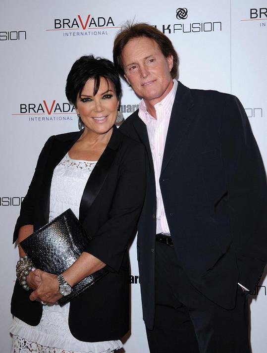Takhle Caitlyn vypadala jako Bruce s manželkou Kris.
