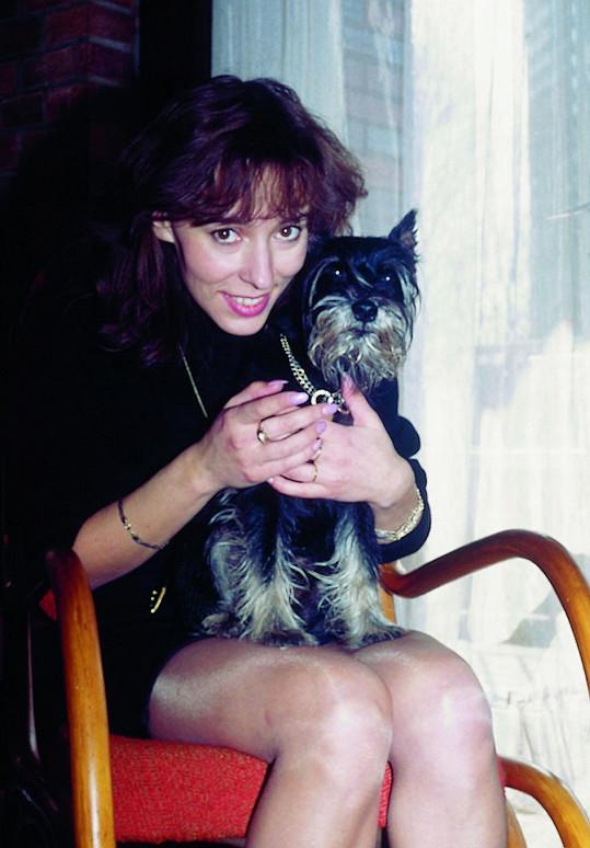 Heidi před lety s kníračem Falcem