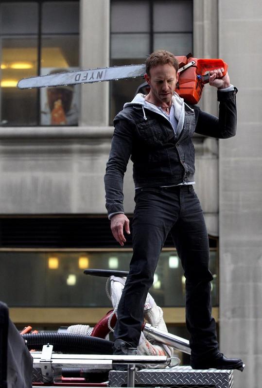 Ian Ziering natáčí v New Yorku.