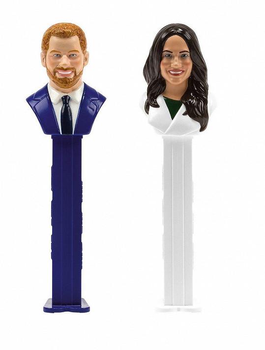 Harryho a Meghan Markle si v Británii můžete koupit jako oblíbené zásobníky na bonbóny.