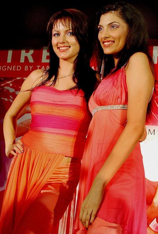 Yana před deseti lety jako modelka v Bombaji