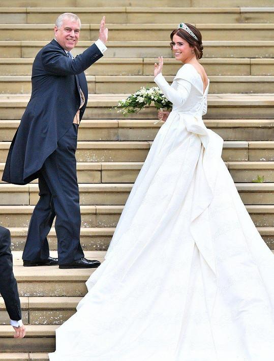 Nevěsta s otcem Andrewem, vévodou z Yorku