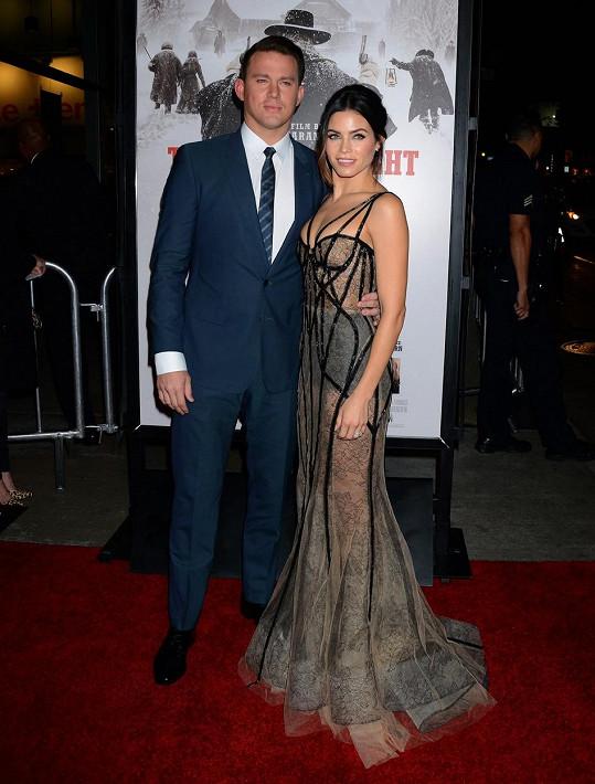 Channing Tatum a Jenna Dewan na premiéře filmu Osm hrozných