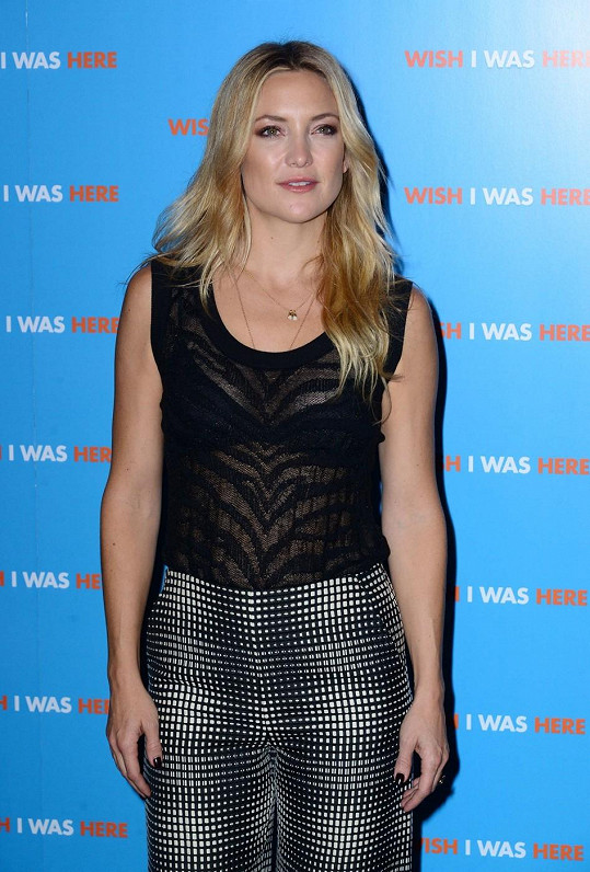 Kate Hudson na premiéře filmu Wish I Was There