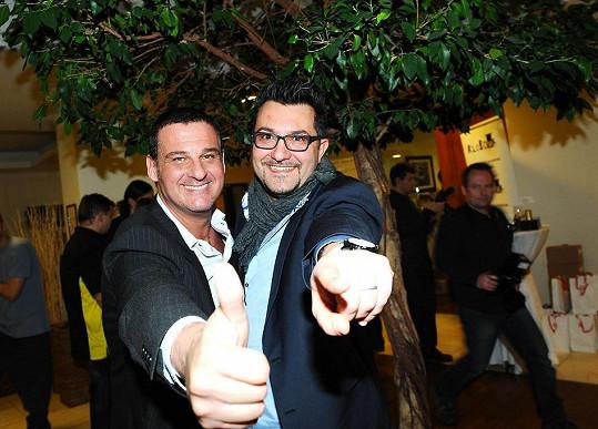 Davide Mattioli na oslavě.