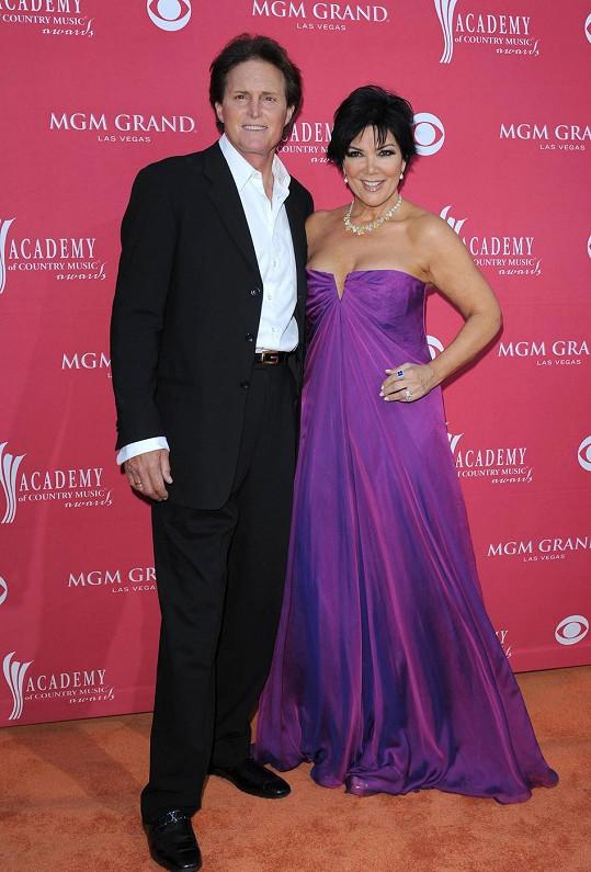 Bruce se svou manželkou Kris, s níž se nyní rozvádí.