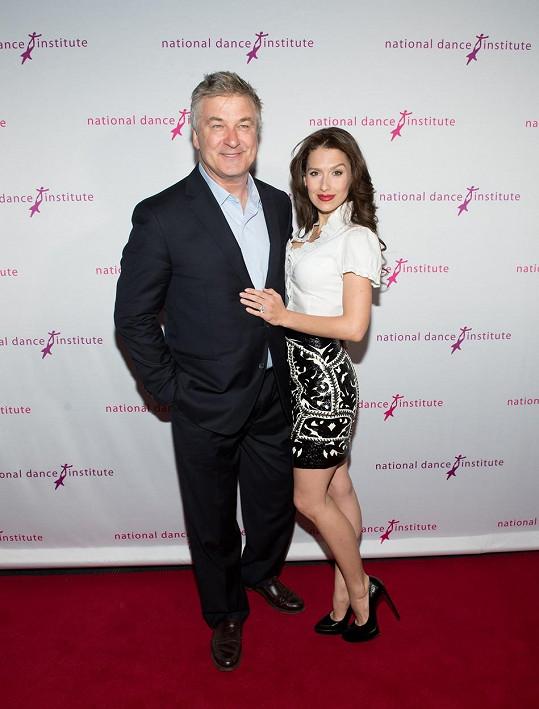 Alec Baldwin s manželkou Hilarií v pondělí na National Dance Institute Gala v New Yorku