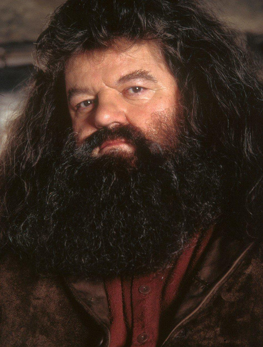 Robbie jako Hagrid v Harrym Potterovi