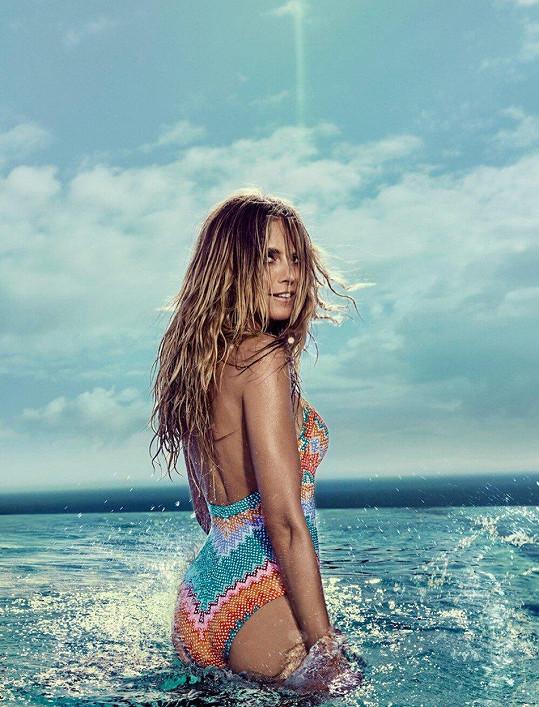 Taková je nová kolekce značky Heidi Klum Swim, kterou si propaguje modelka sama.