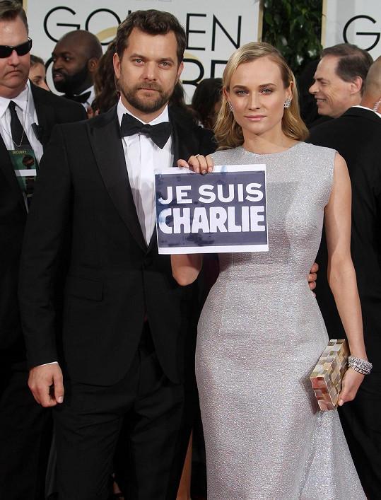 """Herečka se na akci rozhodla dát najevo, že ona je také """"Charlie""""."""