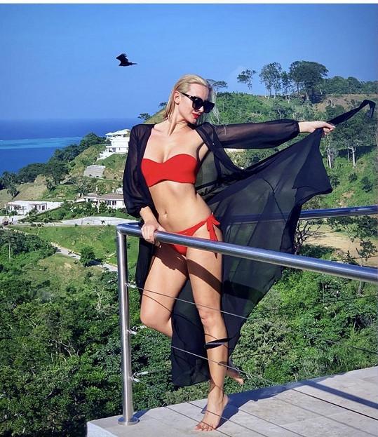 Barbora Mottlová vyrazila na dovolenou na ostrov Roatán.