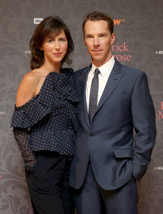 Benedict s manželkou Sophie Hunter