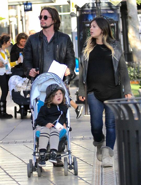 Herec s manželkou Sheilou a synem Monroem