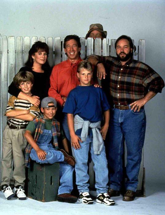 Tim Allen se seriálovou rodinou