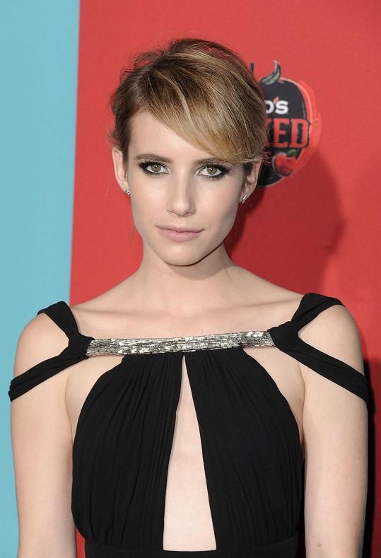 Emma Roberts na premiéře seriálu American Horror Story - Freak Show zazářila.