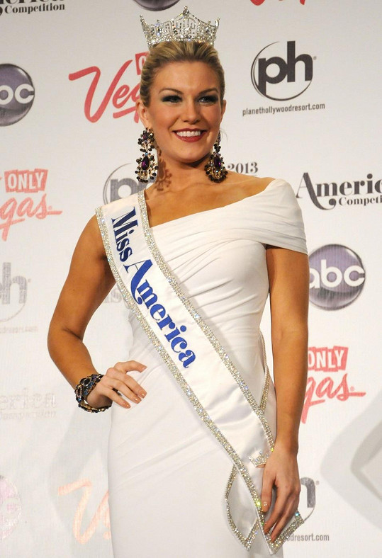 Miss Amerika Mallory Hagan po zvolení.