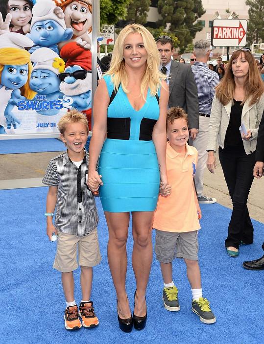 Britney Spears na archivním snímku se syny Jaydenem a Seanem