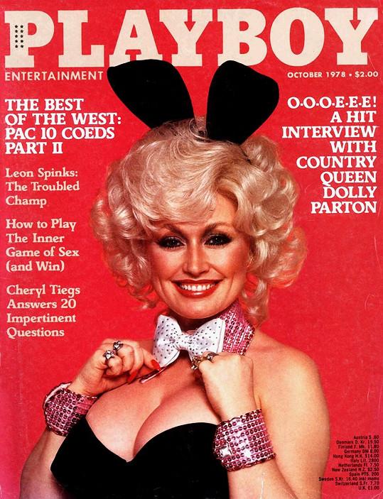 Dolly Parton na obálce říjnového čísla Playboye z roku 1978.