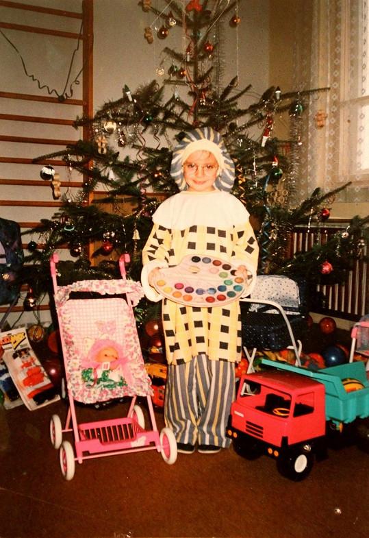 Gabriela Kratochvílová, když jí bylo pět let.