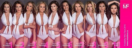 Všechny finalistky Miss Face
