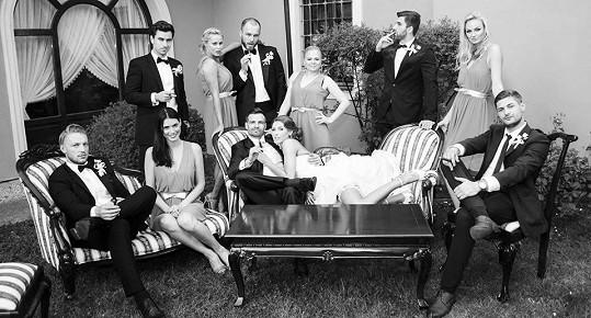 Takhle vypadala svatba plná modelů a modelek.