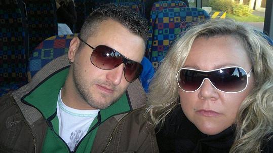 Petra Slaninová s přítelem Petrem.