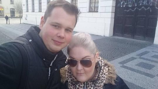 Pavlína s přítelem Markem