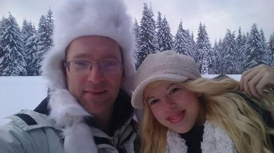 Se svým přítelem a autorem fotek Martinem Hlaváčem