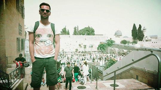 Norbert na dovolené v Izraeli.