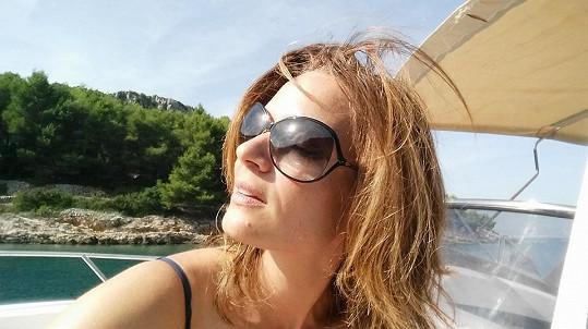 Klára si užila dovolenou v Chorvatsku.