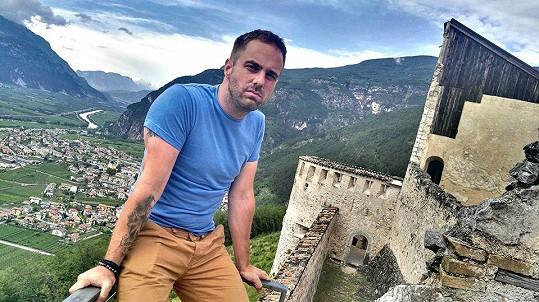 Petr navštívil také italský skalní hrad Beseno.
