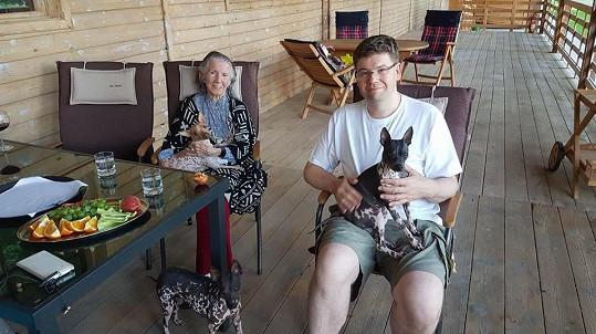 Meda Mládková s Jiřím Pospíšilem v resortu Šarlota