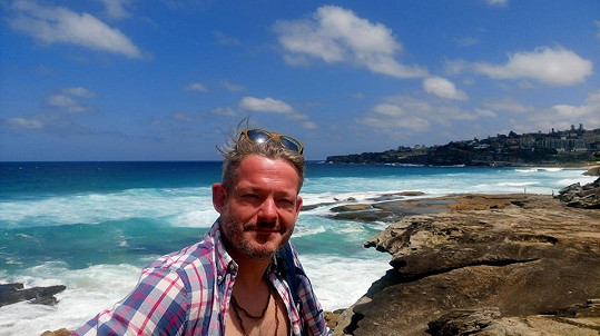 Aleš Háma si užívá na dovolené v Austrálii.