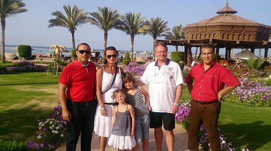 Adamcovi s šéfdelegátem Mohamedem Adelem