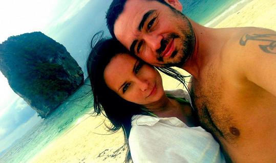 Veronika Nová s partnerem a jejich první dovolená.