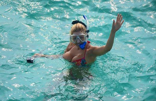 Eva se věnovala hlavně potápění s podvodním fotoaparátem.