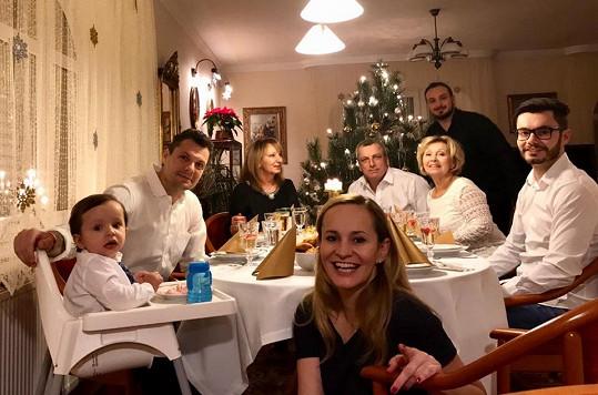 Monika Absolonová si vánoční svátky užila.