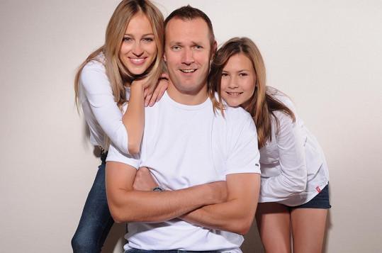 Renata Langmannová s rodinou.